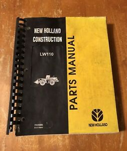New Holland Lw110 Wheel Loader Parts Catalog Manual Oem Service Manual