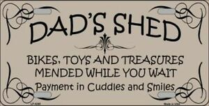 Dad S Shed Funny Vanity Novelty License Plate Tag Sign