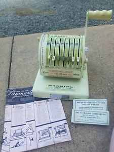 Vintage Paymaster Check Writer Locked Protection Series X 550