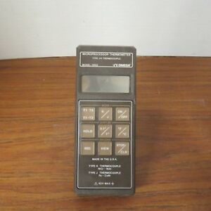 Omega Hh22 Type J k Thermocouple Microprocessor Thermometer Only