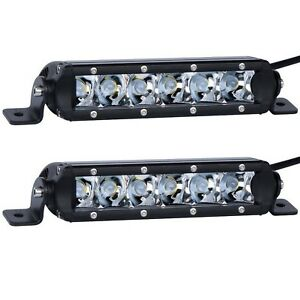 Lumitek 2x 7 30w Light Bar 5w Cree Led Light Bar Off Road Light Bar Flood Li