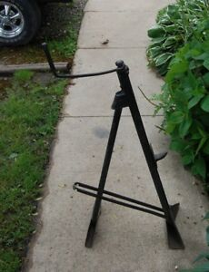 Vintage Car Bumper Jack 1950 s 1960 s Possibly Lincoln Folding Screw Type