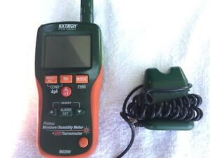 Extech Mo290 Pinless Moisture Meter With Probe Very Nice