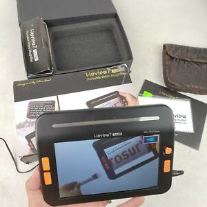 I loview 7 Hd Color Portable Video Magnifier 4 1 Hrs Of Battery Use Low Vision