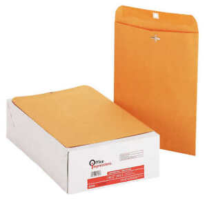 New Office Impressions 2 prong Clasp Envelopes 9 X 12 Kraft 200 count G Flaps