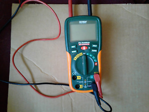 Extech Ex210 8 Function Digital Mini Multimeter With Ir Thermomter Used