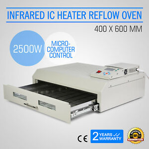 T962c Infrared Ic Heater Reflow Oven Micro processor Soldering Smd bag Ce