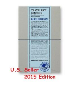 Blue 2015 Edition Midori Travelers Notebook Leather Cover New In Package