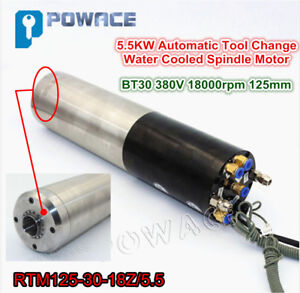 5 5kw Bt30 380v Atc Water Cooled Automatic Tool Change Spindle Motor Engraving