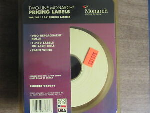 Two line Monarch Pricing Labels For The 1136 Pricing Labeler
