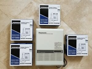 Panasonic Kx t30810 Easa phone Electronic System With 4 Phones Shipping Included