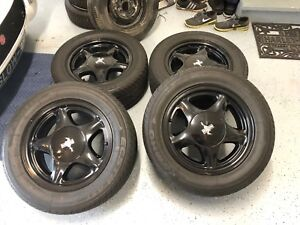 16 Ford Mustang Pony Rims Tires Foxbody Wheels