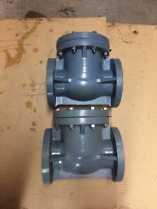 Lot Of 2 Asahi 3 Flanged Check Valve