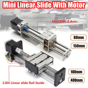 Ball Screw Linear Cnc Slide Stroke 60mm 400mm Long Stage Actuator Stepper Motor