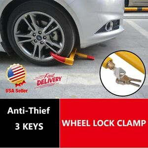 Wheel Lock Clamp Boot Tire Claw Anti Theft Towing Auto Car Trailer Truck Bt