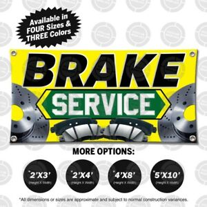 Brake Service Banner Open Sign Mechanic Auto Repair Shop Display Car Fix Tune Up