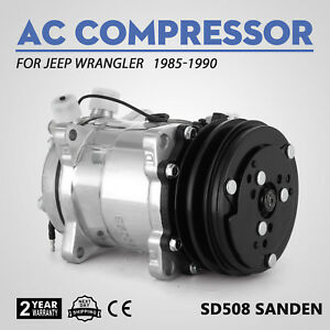 New Sanden Sd508 Ac Compressor And Clutch For Jeep Wrangler 85 90 57551 Soon
