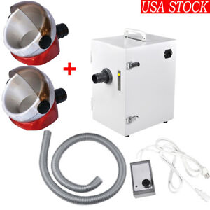 Dental Lab Digital Single row Dust Collector Vacuum Cleaner 2pcs Suction Base