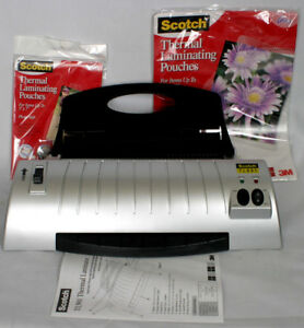 Scotch Thermal Laminator Combo With Laminating Pouches Office Home Supplies