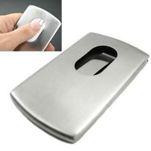 Kingfom Stainless Steel Wallet Business Name Credit Id Card Holder Case steel
