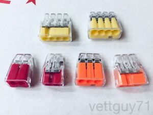 Ideal In sure Push in Wire Connectors 2 3 4 Port Red orange yellow 12 20awg