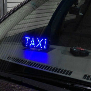 Auto Blue 45 Led Cab Taxi Roof Sign Light 12v Vehical Inside Windscreen Lamp