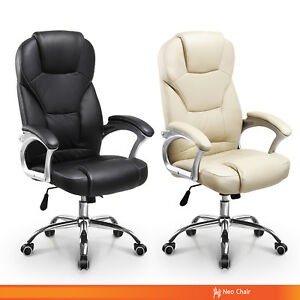 Mosel Valley Executive Pu Leather Home Office Chair