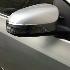 For Toyota Yaris Vitz 2017 2018 Chrome Rearview Mirror Moulding Strip Cover Trim