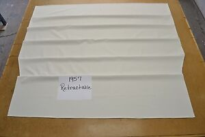 1957 57 Ford Fairlane Retractable Skyliner Snow Bright White Tier Headliner Usa