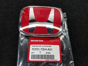 Genuine Oem Honda Civic Type R Rear Red Emblem For 4d Sedan Fc 2017 2019