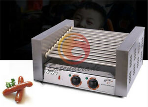 Commercial 11 Roller Hot Dog Grill Cooker Machine 220v 2 06kw