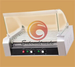 Commercial 9 Roller Hot Dog Grill Cooker Machine 220v 1 8kw
