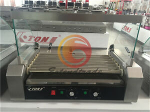 Commercial 7 Roller Hot Dog Grill Cooker Machine 1 4kw 220v