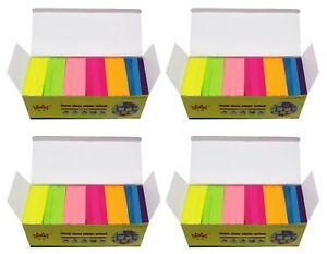 4a Sticky Pop up Notes 3 X 3 Self stick Notes Neon Assorted Total 7200 Sheets