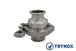 2 5 Sanitary Check Valve Clamp Ends 304 Stainless Steel Trynox