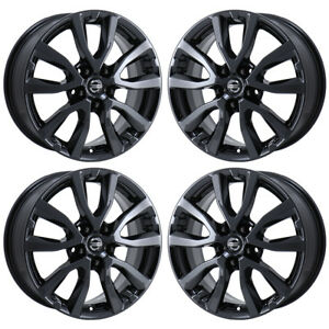Fits 17 Nissan Rogue Black Chrome Wheels Rims Factory Oem Set 62746 Exchange