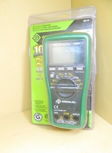 Greenlee Dm 45 600v 100a Auto Ranging Digital Multimeter 4003907