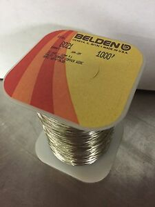 Belden 8021 1000 22 Awg Solid Tinned Copper Bus Bar Wire 1000ft Spool