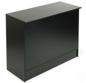 Black 48 Retail Store Wrap Counter Cash Register Stand W 3 Adjustable Shelves