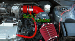 Red Air Intake Kit Filter For 2002 2006 Mitsubishi Lancer 2 0l 4cyl Oz Ls Es
