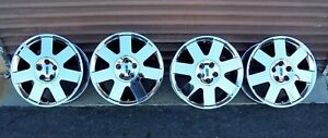 Set 03 05 Lincoln Ls Chrome 7 Spoke Wheels 17x7 5 Nice