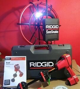 Ridgid Snake Scout Locator Sewer Vieo Drain Cleaner Inspection Camera 200 Feet