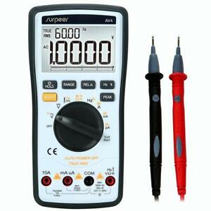 Digital Multimeter Surpeer 20000 Counts Multi Capacitor Tester True Rms
