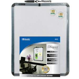 Bazic 11 Inch X 14 Inch Magnetic Dry Erase Board W Marker 2 Magnets Pack O