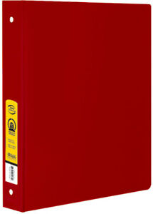 Bazic Bulk 1 5 Red 3 ring Binder With 2 pockets Case Pack 12