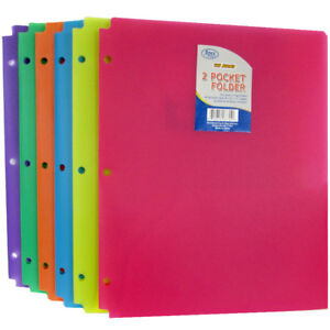 Two Pocket Plastic Folder snap In 9 5 X 11 5 Case Pack 60