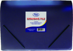 Expanding File Folder 13 Pocket Letter Size Case Pack 16