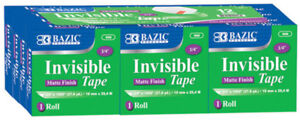 Bazic 3 4 X 1000 Invisible Tape Refill 12 pack Case Pack 12
