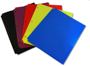 Plastic Two Pocket Folders 8 5 X 11 Assorted Colors Case Pack 100