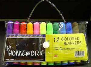 Mini Markers 12 Pack Asst Colors Case Pack 48